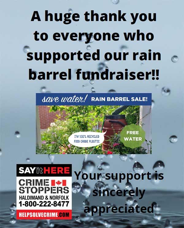 Rain Barrel Fundraiser - Thank you!