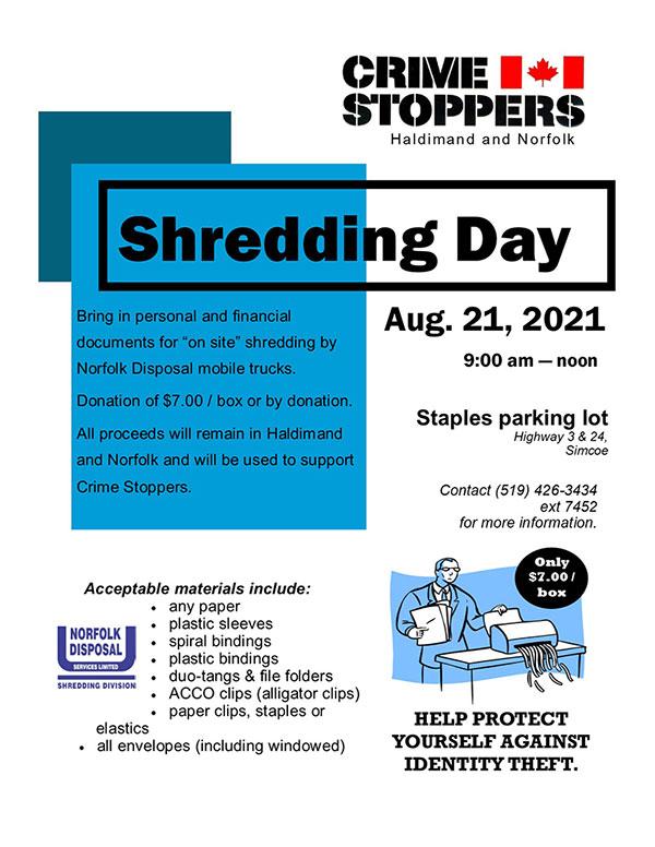 Shredding in Simcoe